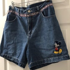 Disney Mickey Unlimited Jerry Leigh denim shorts